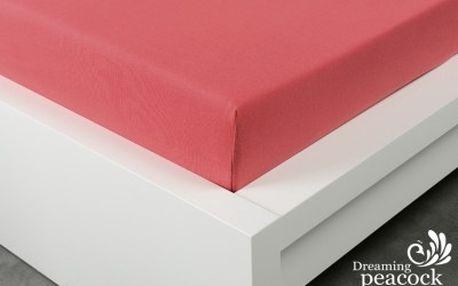 XPOSE ® Jersey prostěradlo dvoulůžko - malinová 180x200 cm