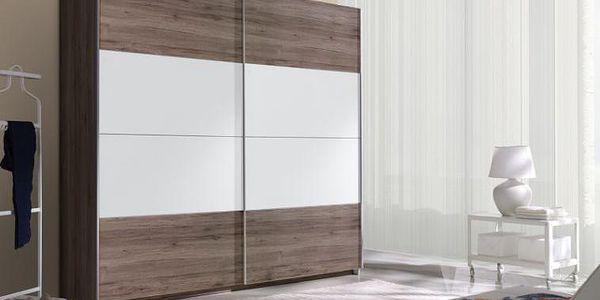 AKCE - Moderní šatní skříň s posuvnými dveřmi Eunice