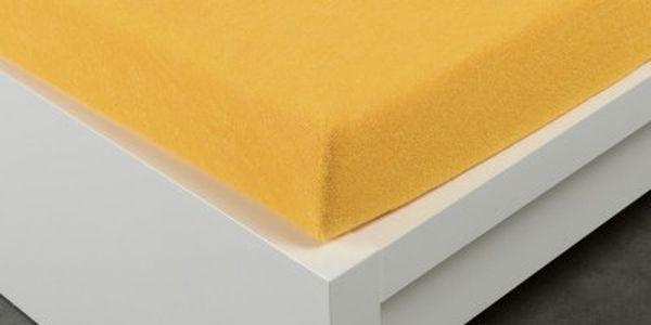 XPOSE ® Froté prostěradlo Exclusive dvoulůžko - žlutá 140x200 cm