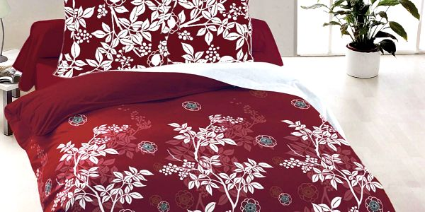 Kvalitex Bavlněné povlečení Molly červená, 220 x 200 cm, 2 ks 70 x 90 cm