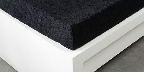 XPOSE ® Froté prostěradlo Exclusive dvoulůžko - černá 180x200 cm