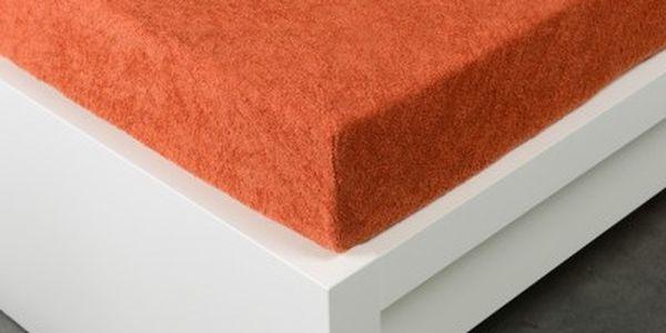 XPOSE ® Froté prostěradlo jednolůžko - tmavě oranžová 90x200 cm
