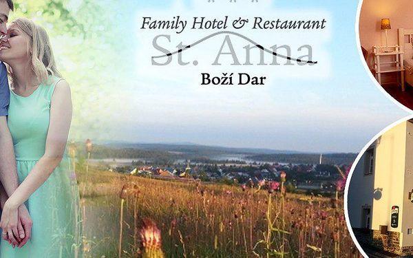 Boží Dar - ubytování pro 2 osoby na na 2, 5 nebo 7 nocí v hotelu St. Anna*** s výtečnou polopenzí.