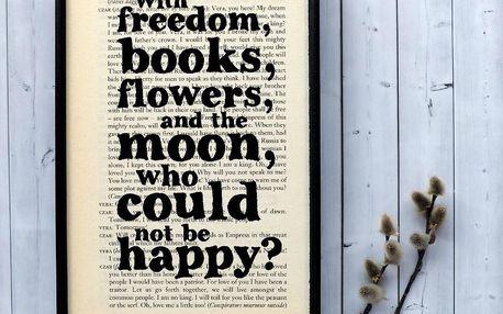 Plakát v dřevěném rámu Oscar Wilde Freedom