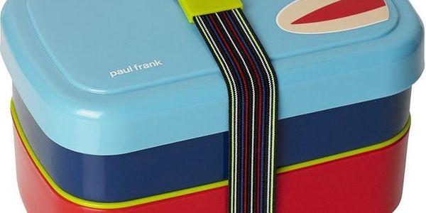 Dvoupatrový svačinový box, modrý