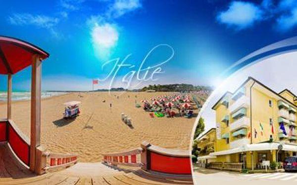 Itálie, CAORLE - 8 dní pro 1 osobu vč. POLOPENZE ve 3* hotelu 150 metrů od krásné pláže! V letovisku AQUAPARK!