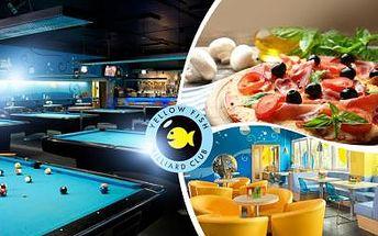2x PIZZA a dvě hodiny BILLIARDU na profi stolech v Billiard clubu v Brně! Užijte si zábavný den s přáteli!