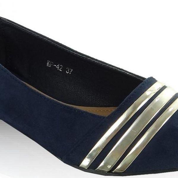 Dámské klasické baleríny Heppin 31950 - modrá barva, velikost 37
