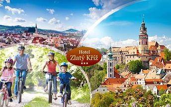 Až 6DENNÍ RODINNÝ pobyt nedaleko města ČESKÝ KRUMLOV pro 2 dospělé a 1 dítě do 10 let vč. POLOPENZE a VÍNA!