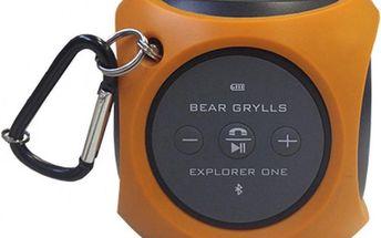 Přenosný a odolný bluetooth reproduktor Bear Grylls Explorer One Speaker (Burnt Orange)