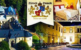3 dny (2 noci) pro 2 osoby na zámku Zbiroh: Je libo aktivní, nebo relaxační pobyt?