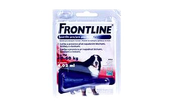 Antiparazitární přípravek Frontline Spot-On pro psy XL 1x4,02ml - červený
