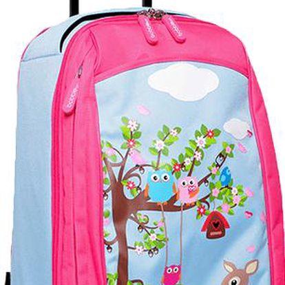Bobble Art Dětský kufr na kolečkách velký Zvířátka