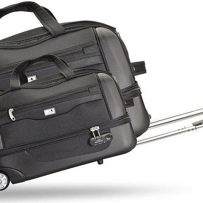 Sada 2 cestovních tašek na kolečkách Roulettes Black, 111 l/65 l - doprava zdarma!