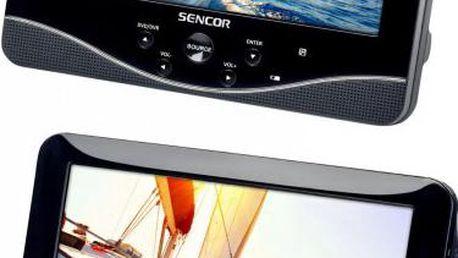 Přenosný DVD přehrávač se dvěma LCD displeji Sencor SPV 7769DUAL