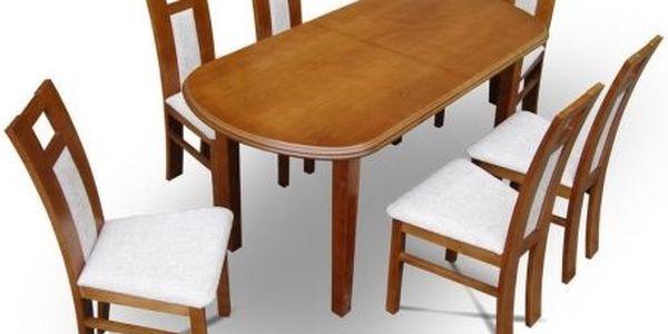 Jídelní stůl CENTRO 160x90 (+ 40) - MA14110-5 přírodní dubová dýha
