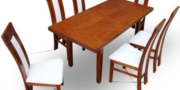 Jídelní stůl MARS 140 x 80 (+40) cm - MA14115-3 přírodní dubová dýha