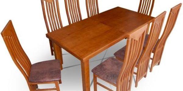 Jídelní stůl ALAN 140 x 80 (+ 40)- MA14120-3 přírodní dubová dýha