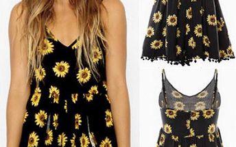 Slunečnicové šaty s nohavičkami!