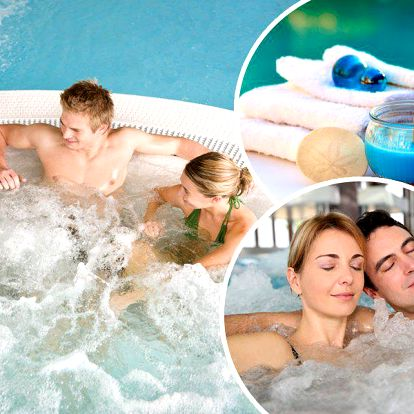 Privátní vířivka, hodinový wellness odpočinek až pro 4 lidi. Vychutnejste si vířivku v soukromí!!
