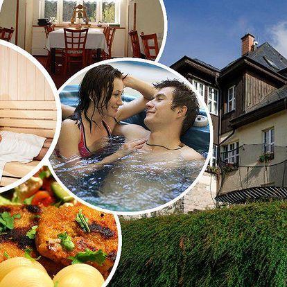 Pobyt pro dva s polopenzí, hotelové Spa& relax wellness centrum s venkovní vířivkou a mnoho dalšího!