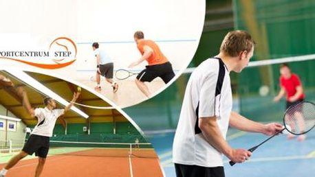 BADMINTON, TENIS, SQUASH! Zahrajte si ve Sportcentru STEP - Praha 9! 1 hodina hry od 7:00-23:00!