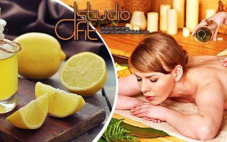 Jarní citrusová aroma masáž