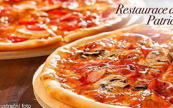 Dvě libovolné pizzy z Pizzerie Patricie