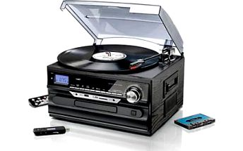 Mikrověž s gramofonem, CD i vstupem na flash disk!