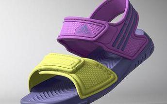 Adidas Sandály Akwah fialovo-žluté
