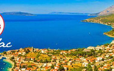 Letní dovolená v Chorvatsku: 8 dní pro 1 osobu v letovisku Gradac.