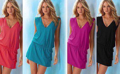 Letní šaty v barvě dle výběru, poštovné zdarma