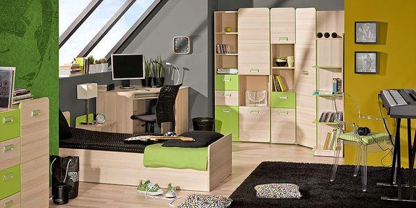 Dětský pokoj RENATO 1 jasan coimbra - zelená