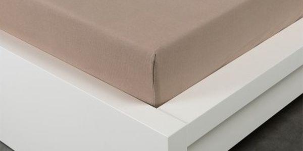 XPOSE ® Jersey prostěradlo jednolůžko - hnědá 90x200 cm
