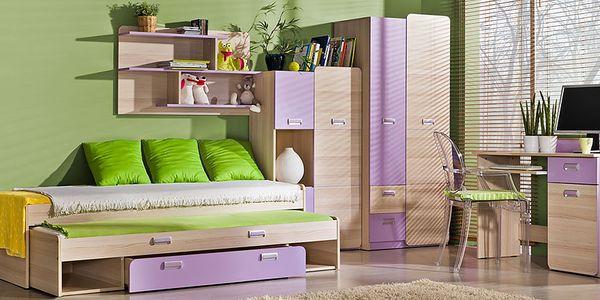 Dětský pokoj RENATO 5 jasan coimbra - fialová