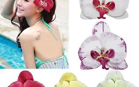 Dekorace do vlasů - orchidej