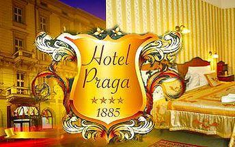 Historický Hotel Praga 1885****: 2 či 3denní pobyt pro dva v Praze.