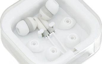 In-Ear sluchátka v krabičce - bílá