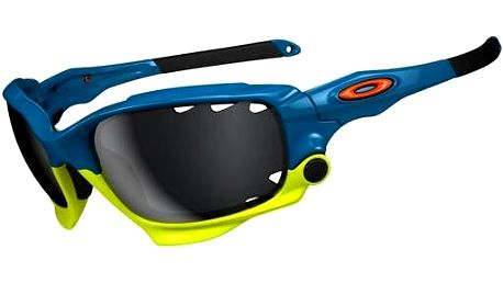 Oakley Racing Jacket Iridium Pacific Blue (Fathom Ed.) Black Iridium Vented & Clear Vent.
