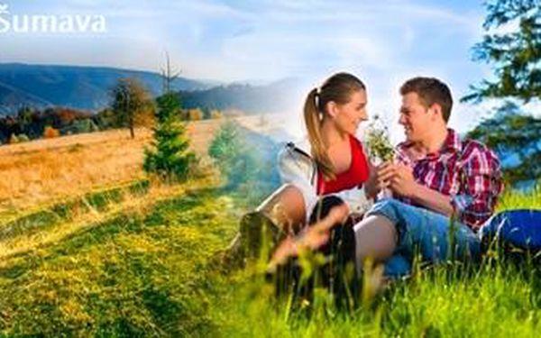 Levná dovolená na Šumavě. 3denní pobyt s POLOPENZÍ pro 1 osobu. Pobyt lze čerpat až do září!