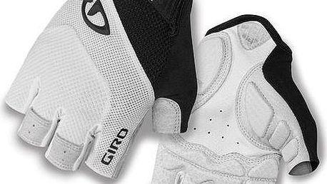 GIRO Monaco white/black vel. M cyklistické rukavice