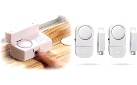 Domácí alarm na dveře a okna 2 kusy za skvělou cenu. Chraňte svůj domov a svoje blízké s pomocí domácího alarmu, který se umisťuje na okna nebo dveře.