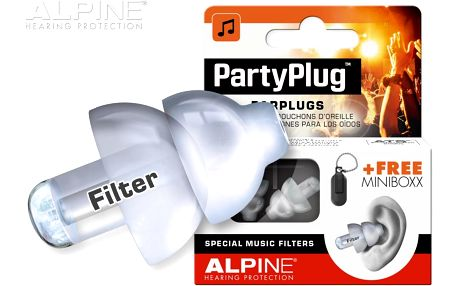 Špunty do uší Alpine PartyPlug Transparent