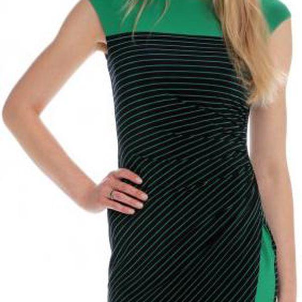 Jedinečné dámské šaty od exkluzivní značky Chaps z portfolia skupiny Ralph Lauren Chaps WCA30CAP26 M zelená