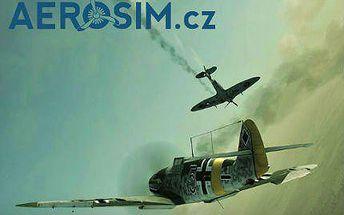 Let na leteckém simulátoru Messerschmitt BF109 v Praze