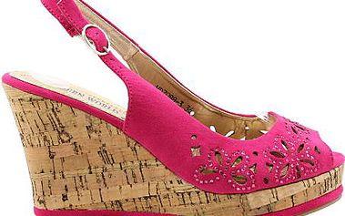 Sandály na platformě MD7088PI Velikost: 36