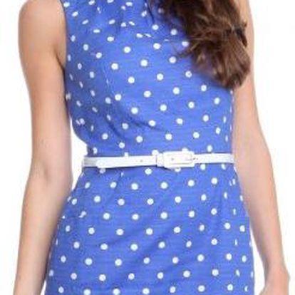 Originální dámské šaty od mladistvé značky Chaps z portfolia skupiny Ralph Lauren Chaps WCA32CAP28 modrá