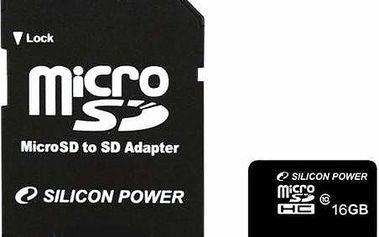 Silicon Power MicroSDHC 16GB Class 10