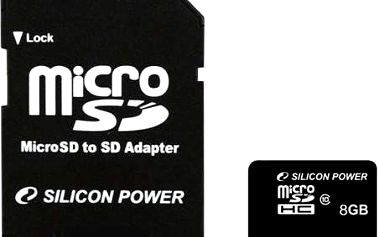 Silicon Power MicroSDHC 8GB Class 4