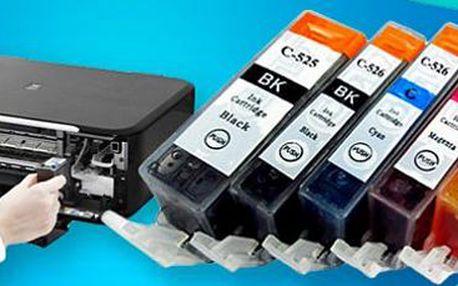 Sada 10 náplní do tiskáren Canon: tiskněte barevně i černobíle, ale hlavně levně!